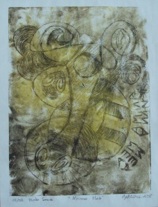 """""""Anima mea"""", punta seca, ilustración de MANAROLA"""