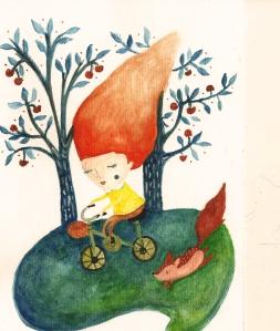 """""""Cerezos"""", ilustración de Inés Malamud. http://inemalamud.wix.com/"""